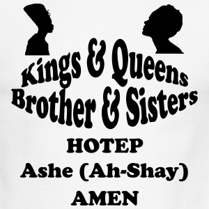 Kings & Queens,Brothers $ Sisters hotep - Men's Ringer T-Shirt