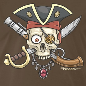 Yobeeno Pirate Skull T-Shirts - Men's Premium T-Shirt