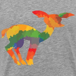 Coloured deer - Men's Premium T-Shirt