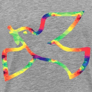 Colorful Dove of peace - Men's Premium T-Shirt