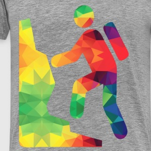 Colorful hikers - Men's Premium T-Shirt