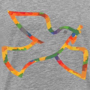 Colored Dove of peace - Men's Premium T-Shirt