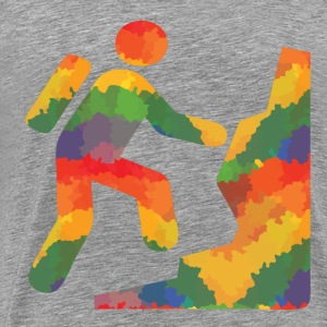 Colored hikers - Men's Premium T-Shirt