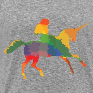 Colored Unicorn - Men's Premium T-Shirt