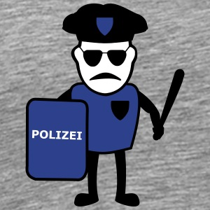 Policeman with truncheon - Men's Premium T-Shirt