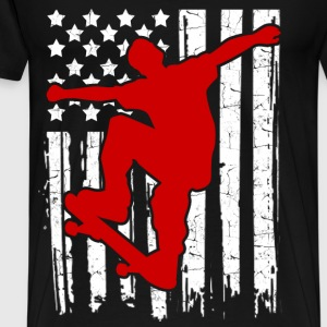 skate flag 129029012sd.png T-Shirts - Men's Premium T-Shirt