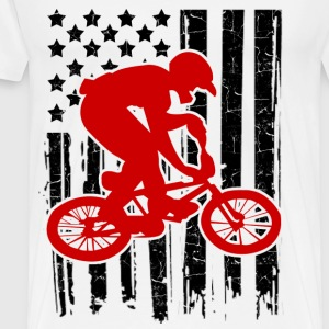 bike flag 1212.png T-Shirts - Men's Premium T-Shirt