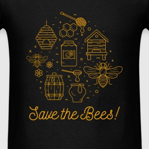 Bees - Save the bees - Men's T-Shirt