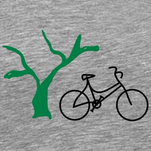 Bicycle with tree - Men's Premium T-Shirt