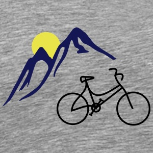 Bike, mountains and Sun - Men's Premium T-Shirt