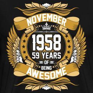 November 1963 54 Years Of Being Awesome T-Shirts - Men's Premium T-Shirt