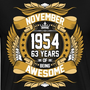 November 1954 63 Years Of Being Awesome T-Shirts - Men's Premium T-Shirt