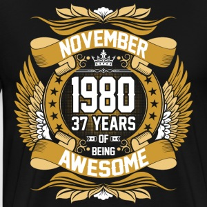 November 1980 37 Years Of Being Awesome T-Shirts - Men's Premium T-Shirt