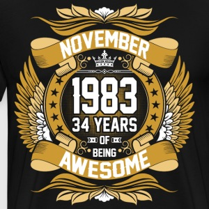 November 1983 34 Years Of Being Awesome T-Shirts - Men's Premium T-Shirt