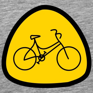 Lady's bike icon - Men's Premium T-Shirt