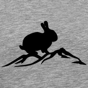 Bunny on mountain - Men's Premium T-Shirt