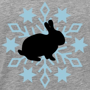Rabbit before snow flake - Men's Premium T-Shirt