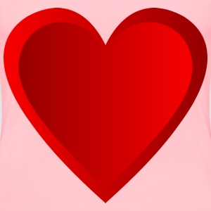 Red Shaded Heart - Women's Premium T-Shirt