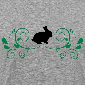 Bunny with decorating - Men's Premium T-Shirt