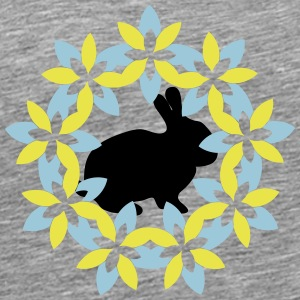 Bunny in the flower district - Men's Premium T-Shirt