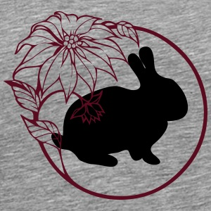 Bunny with flowers - Men's Premium T-Shirt