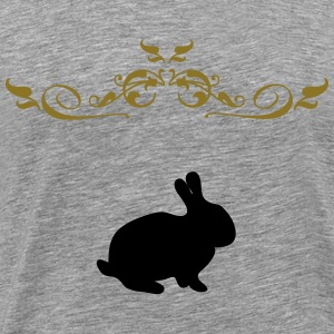 Bunny with garlands - Men's Premium T-Shirt