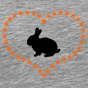 Bunny in the stars of heart - Men's Premium T-Shirt