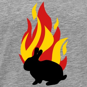 Bunny with fire - Men's Premium T-Shirt