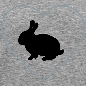 Bunny in the thorns of heart - Men's Premium T-Shirt