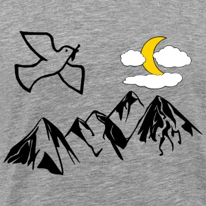 Peace dove with Moon - Men's Premium T-Shirt