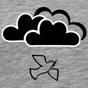 Peace dove with clouds - Men's Premium T-Shirt