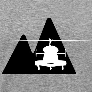 Helicopter mountain - Men's Premium T-Shirt