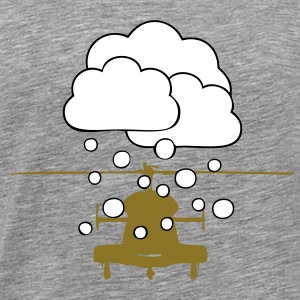Helicopter snowfall - Men's Premium T-Shirt