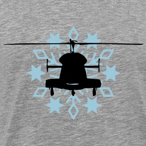 Helicopter snowflake - Men's Premium T-Shirt