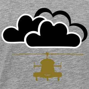 Helicopter with clouds - Men's Premium T-Shirt