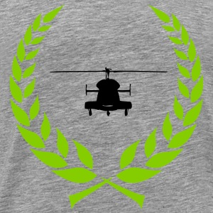 Helicopter laurel wreath - Men's Premium T-Shirt