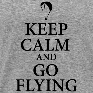Keep calm go flying - Men's Premium T-Shirt