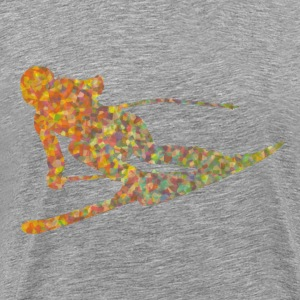 Skier colored - Men's Premium T-Shirt