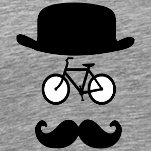 Cycling Hat moustache - Men's Premium T-Shirt