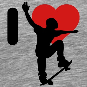 I love skateboarding - Men's Premium T-Shirt