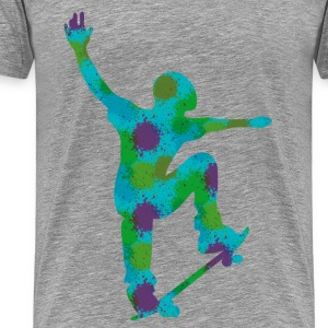 Skater-Graffity-k - Men's Premium T-Shirt