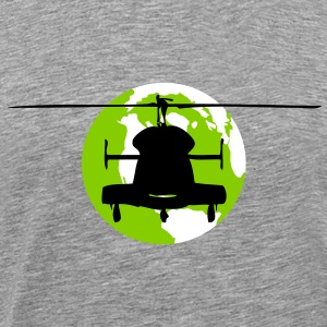 Helicopter globe - Men's Premium T-Shirt