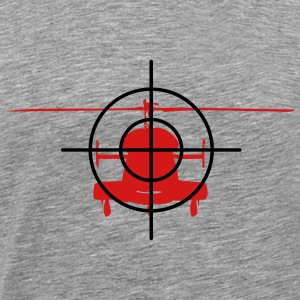 Heli in the crosshairs - Men's Premium T-Shirt