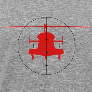 Helicopter in the crosshairs - Men's Premium T-Shirt