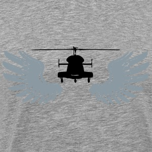 Helicopter with wings - Men's Premium T-Shirt