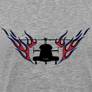 Heli with flames - Men's Premium T-Shirt