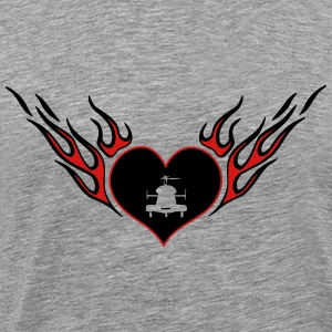Heli heart with wings - Men's Premium T-Shirt
