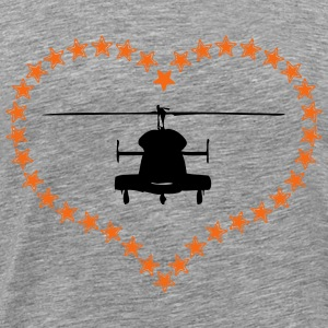 Heli heart asterisk - Men's Premium T-Shirt