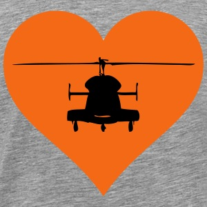 Helicopter heart - Men's Premium T-Shirt