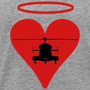 Heli heart Halo - Men's Premium T-Shirt